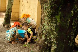 子供たちが楽しむ保育園